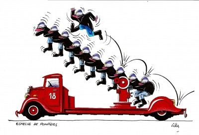 Pompiers page 8 - Dessin pompier humoristique ...